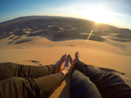 Sunset at the Singing Sand Dunes