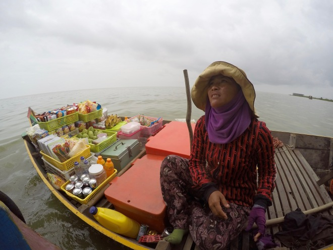 Vendor on Tonle Sap Lake