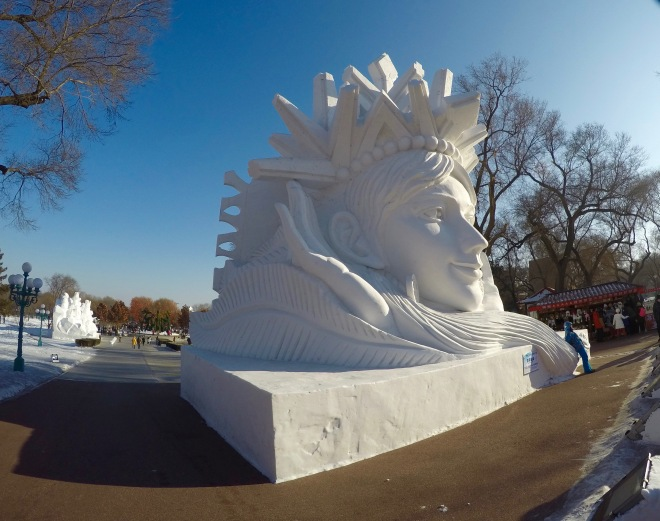 Snow Island Sculpture