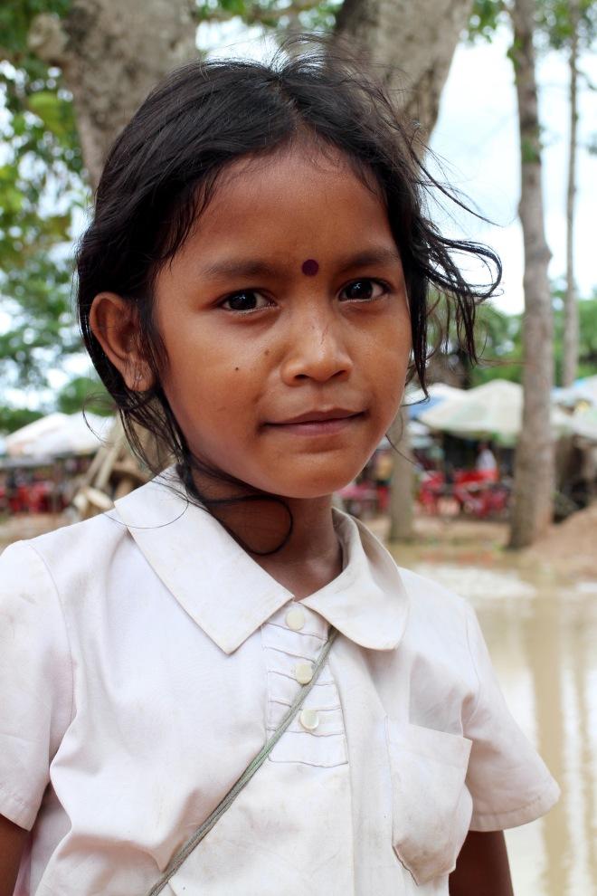 A Child Vendor at Angkor