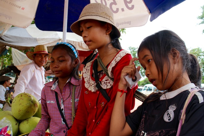 Child Vendors at the Wat