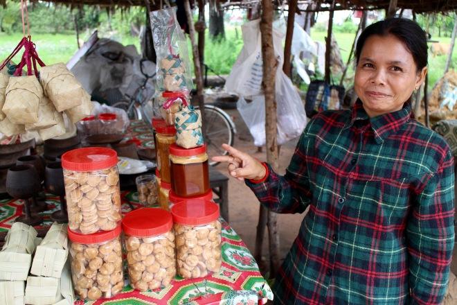 Cambodian Palm Sugar Vendor