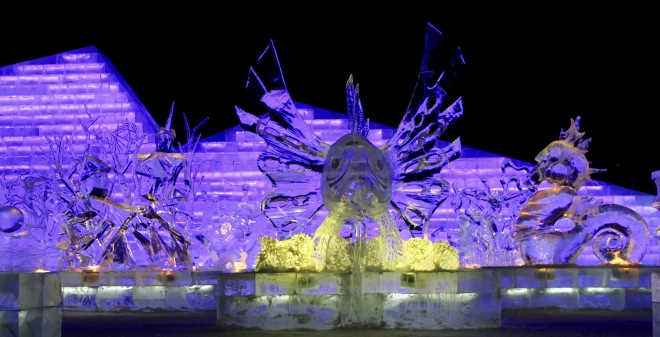 Harbin Fish Ice Sculpture
