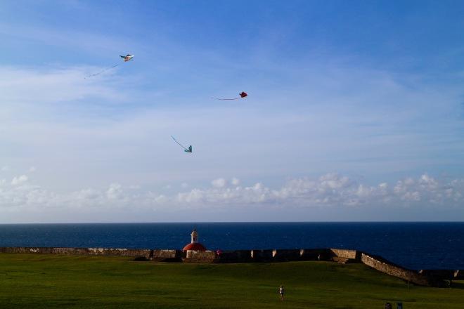 Kites above El Morro
