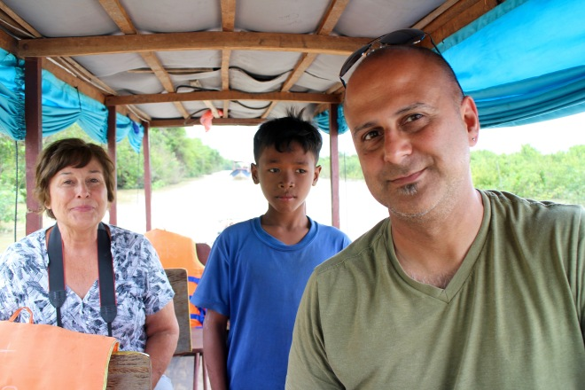 Mom on Tonle Sap Lake