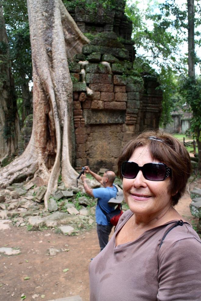 Mom at Ta Prohm Temple