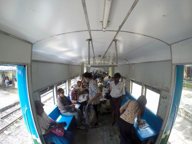 Yangon Railway with Mom