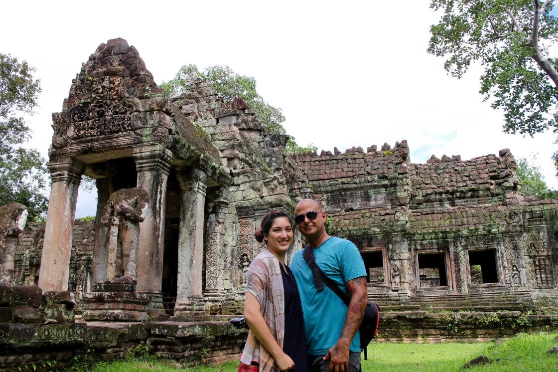 Us at Temple in Angkor