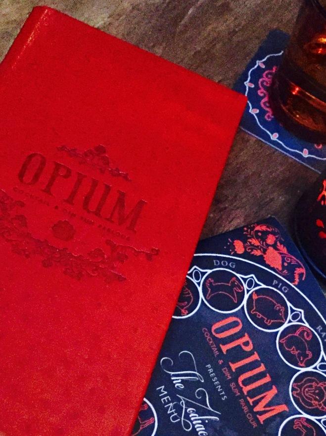 Opium Menu