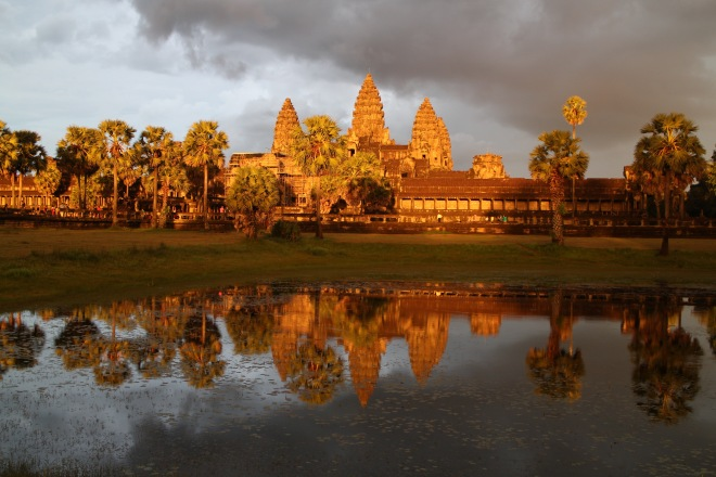 Glorious Angkor at Sunset