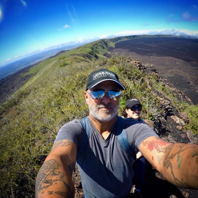 Sierra Negra Volcano Selfie